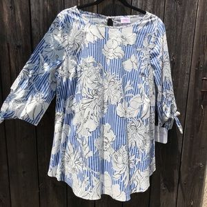 Maternity Floral Target Top